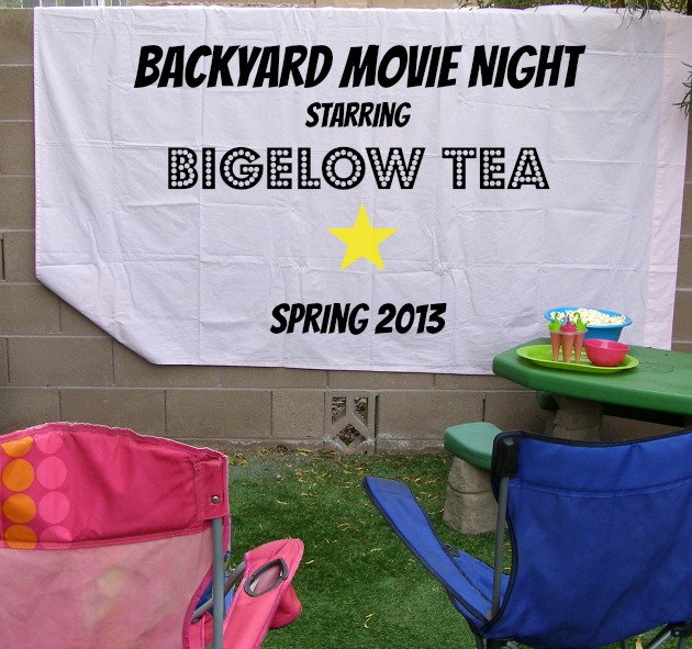 Backyard Movie Night with Bigelow Tea #AmericasTea