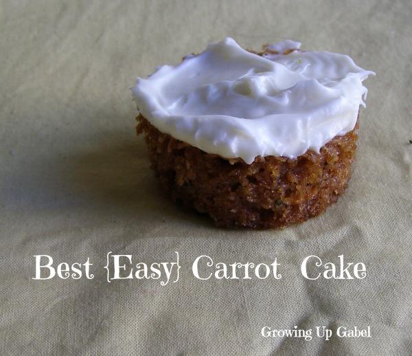 One Bowl Carrot Cake