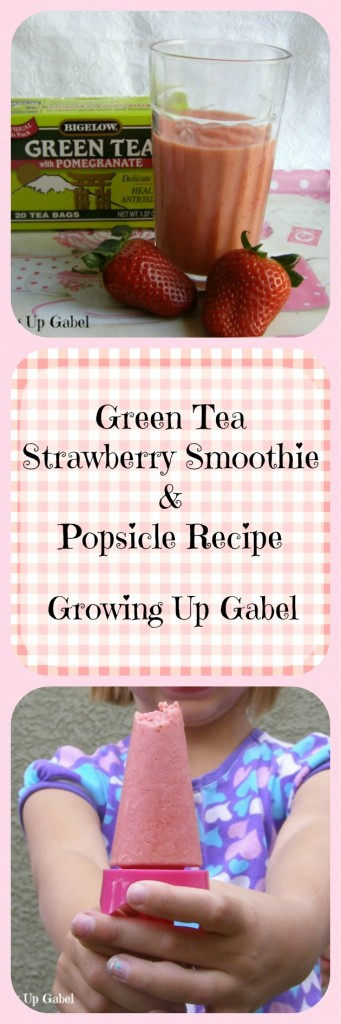 Green Tea Strawberry Smoothies & Popsicle Recipe
