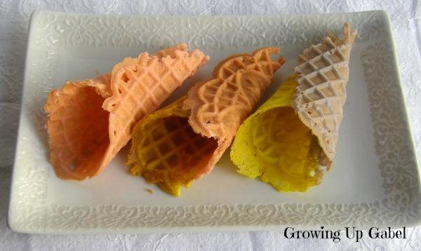 Pastel Pizzelle Cones