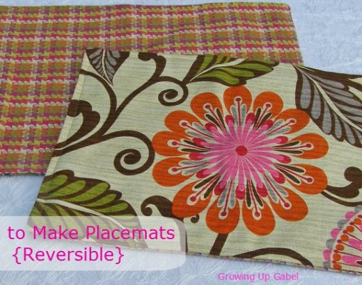 How To Make Placemats {Reversible}