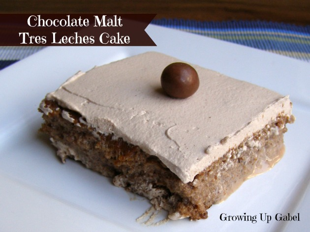Chocolate Malt Tres Leches Cake | Growing Up Gabel