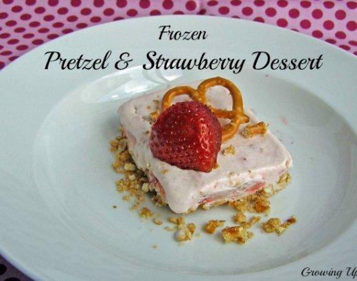 Frozen Pretzel & Strawberry Dessert