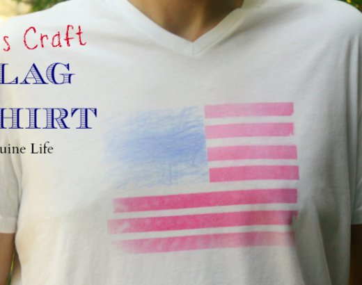 Kids Craft for 4th of July: A Colored Flag Shirt