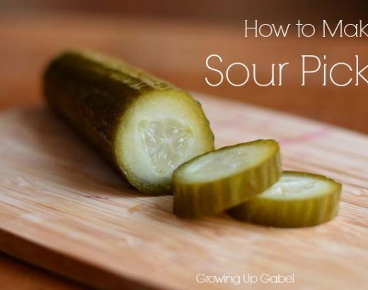 Fermented Sour Pickles Recipe