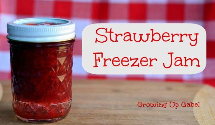 Strawberry Freezer Jam #SundaySupper