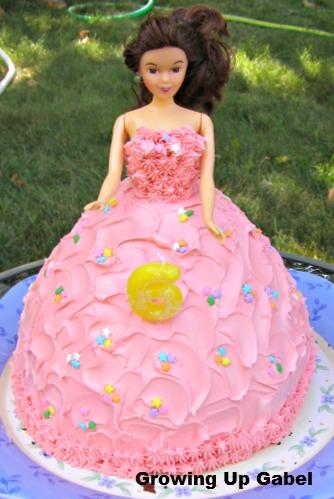 doll dress cake