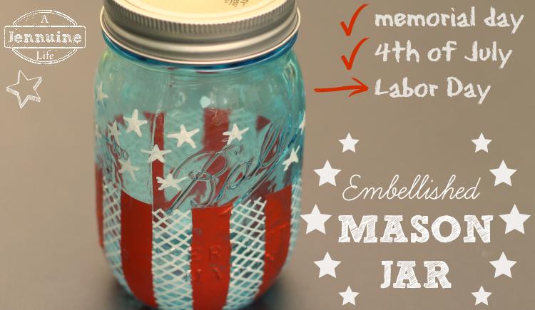 Embellished Heritage Mason Jar