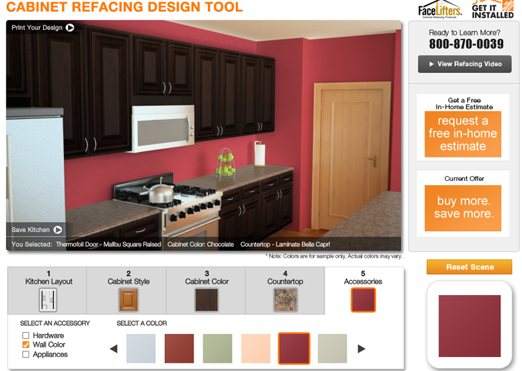 The Home Depot Cabinet Refacing Design Tool Growing Up Gabel