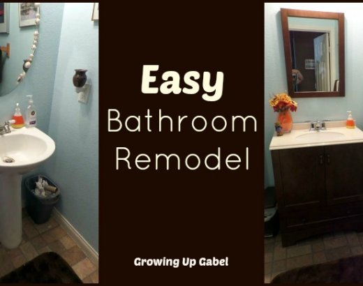 Easy Bathroom Remodel with Moen Boardwalk Faucet
