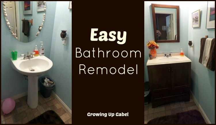 Easy Bathroom Remodel With Moen Boardwalk Faucet Mesmerizing Quick Bathroom Remodel
