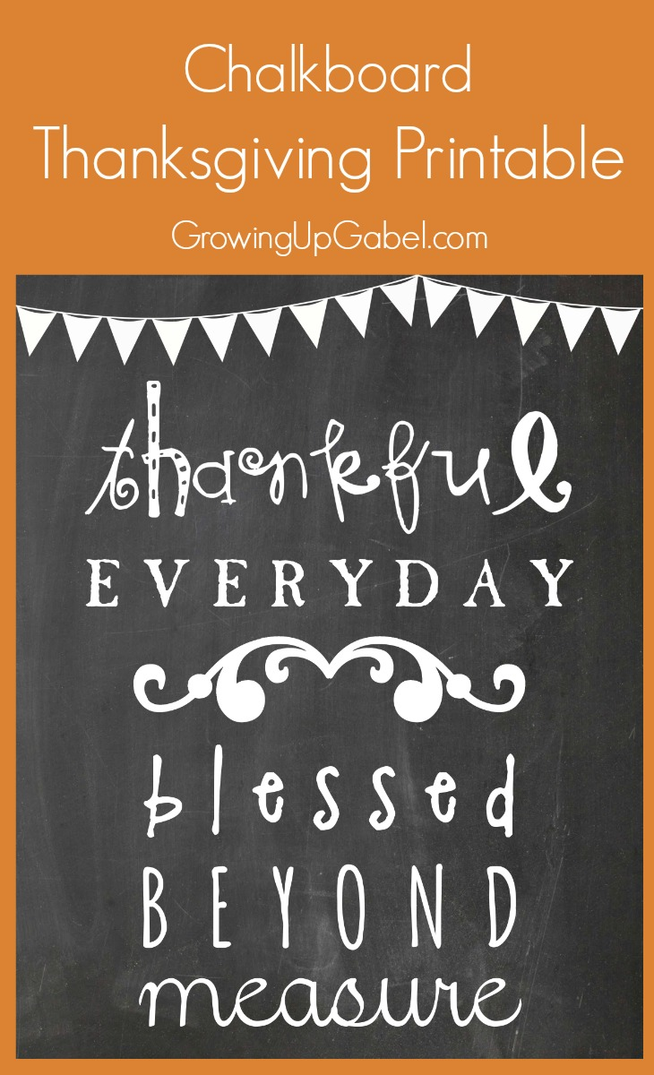 Thanksgiving chalkboard printable long