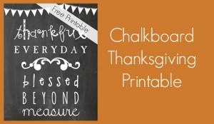 Thanksgiving printable slider