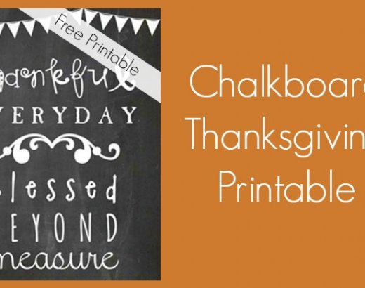 Thanksgiving Decorations: FREE Thanksgiving Chalkboard Printable