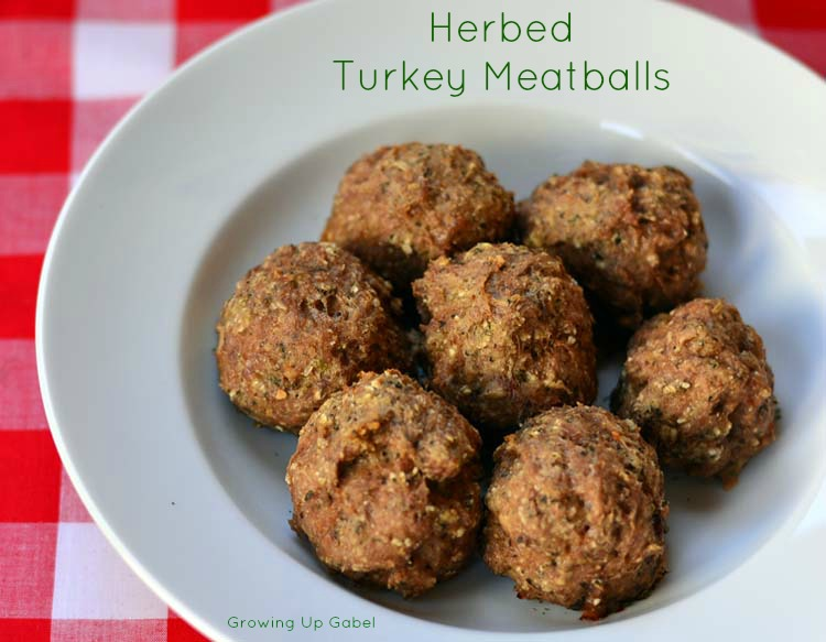 Herbed Turkey Meatballs made with McCormick Spices are great to keep ...