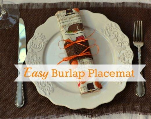 Easy Burlap Placemats