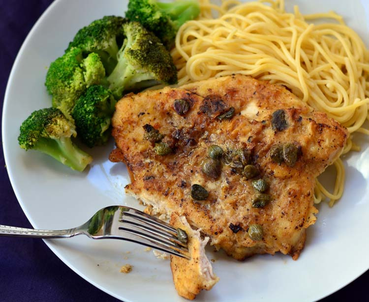 Chicken Piccata with Lemon and Capers | Growing Up Gabel
