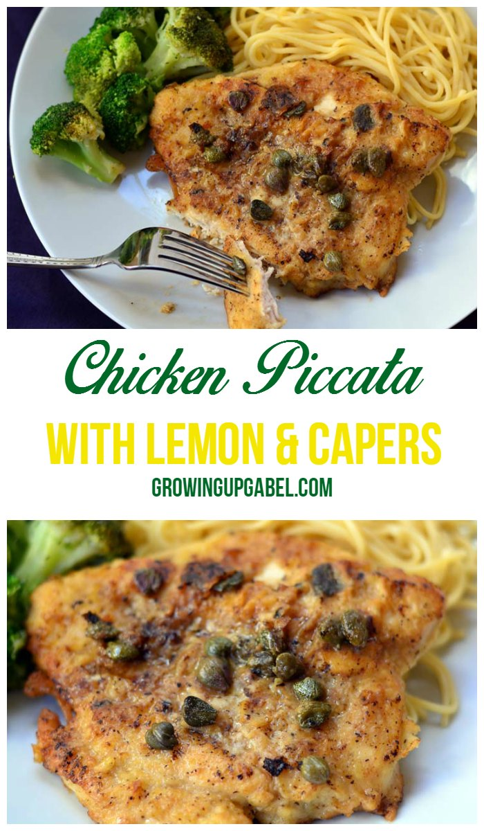 Chicken Piccata with Lemon and Capers | GrowingUpGabel.com
