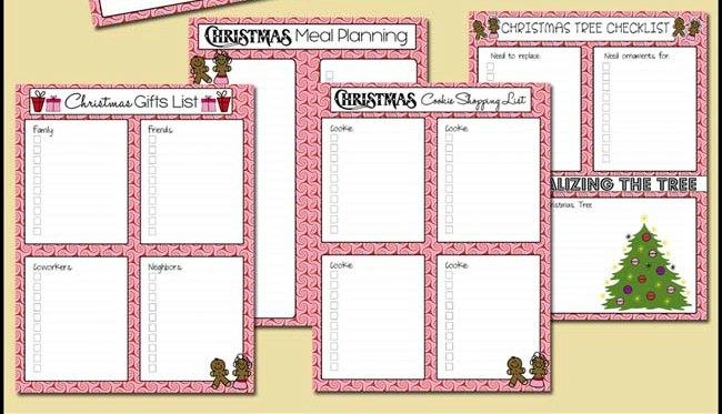 FREE Printable Christmas Planner!