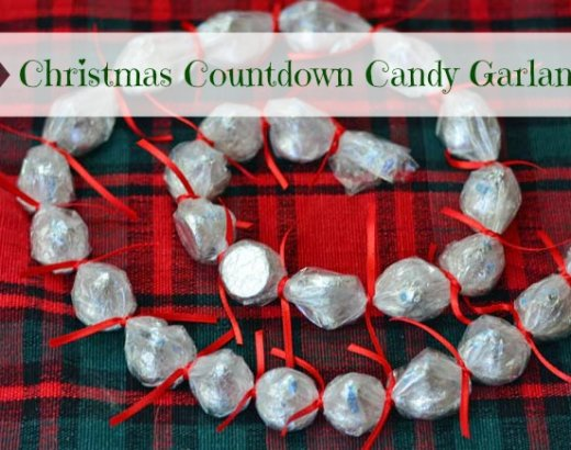 Christmas Countdown Candy Garland