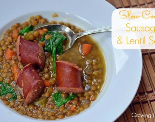 Slow Cooker Sausage and Lentil Soup