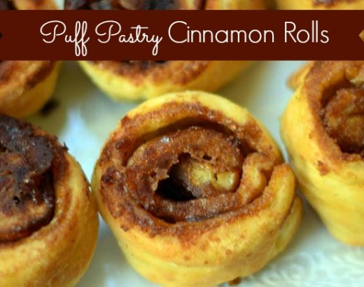 Easy Cinnamon Rolls with Puff Pastry