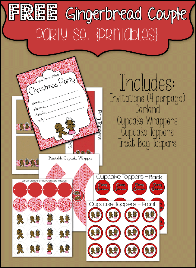 FREE Christmas Party Printables!