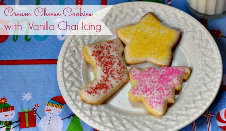 Cream Cheese Cookies with Vanilla Chai Icing