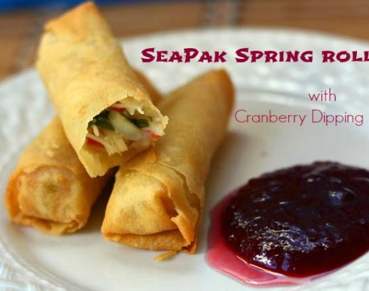 SeaPak Spring Rolls with Cranberry Dipping Sauce: The Perfect Holiday Appetizer