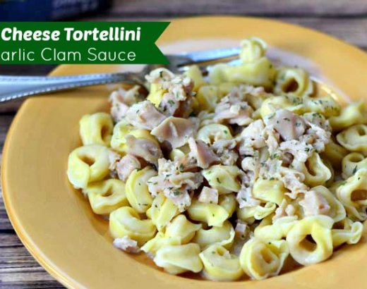 Three Cheese Tortellini with Garlic Clam Sauce