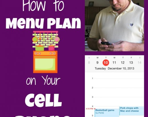 How to Menu Plan Using Your Cell Phone