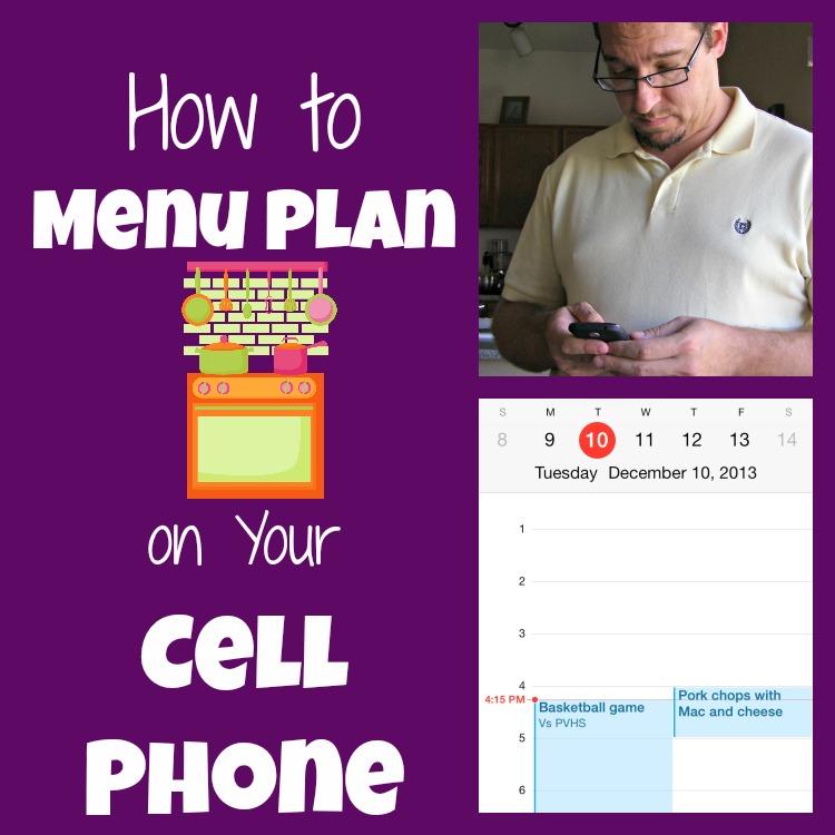 mobile menu plan