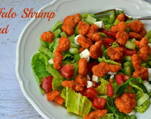 Easy Buffalo Shrimp Salad Recipe