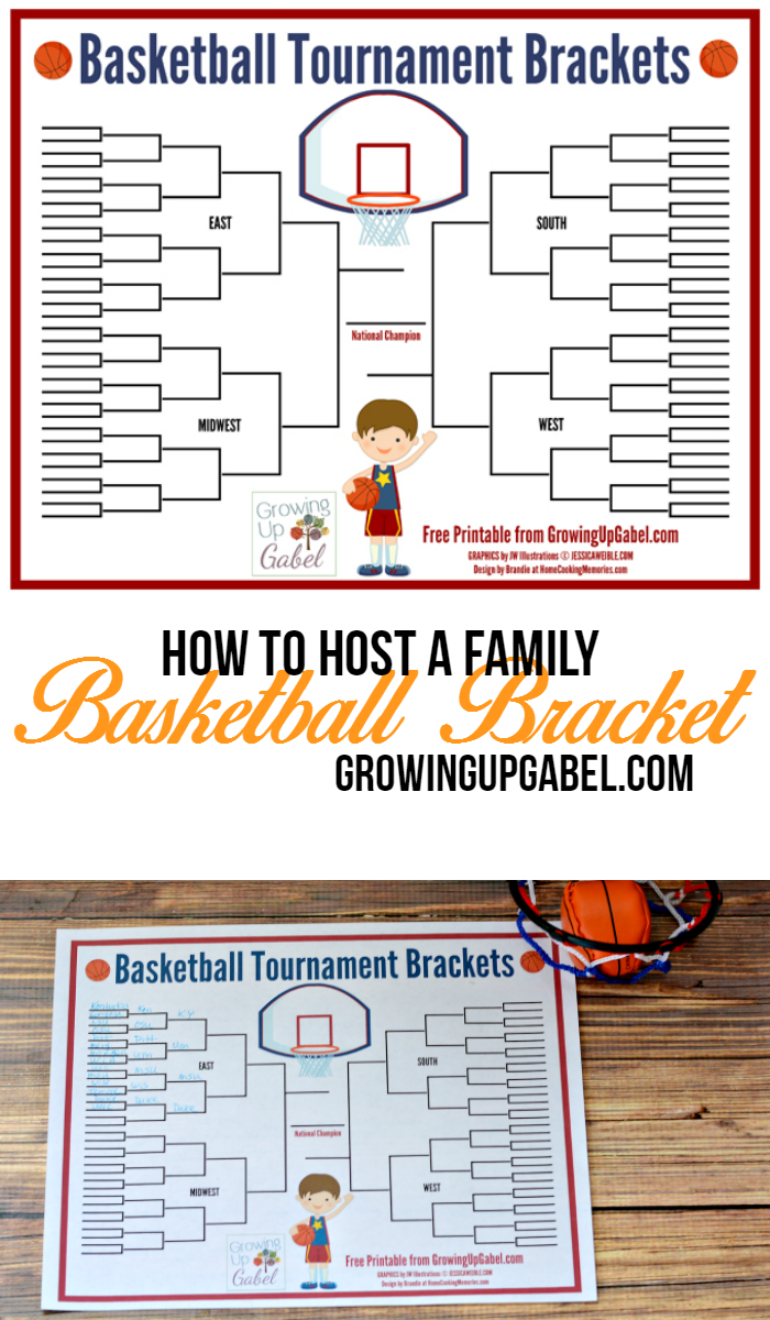 how to host family basketball tournament brackets