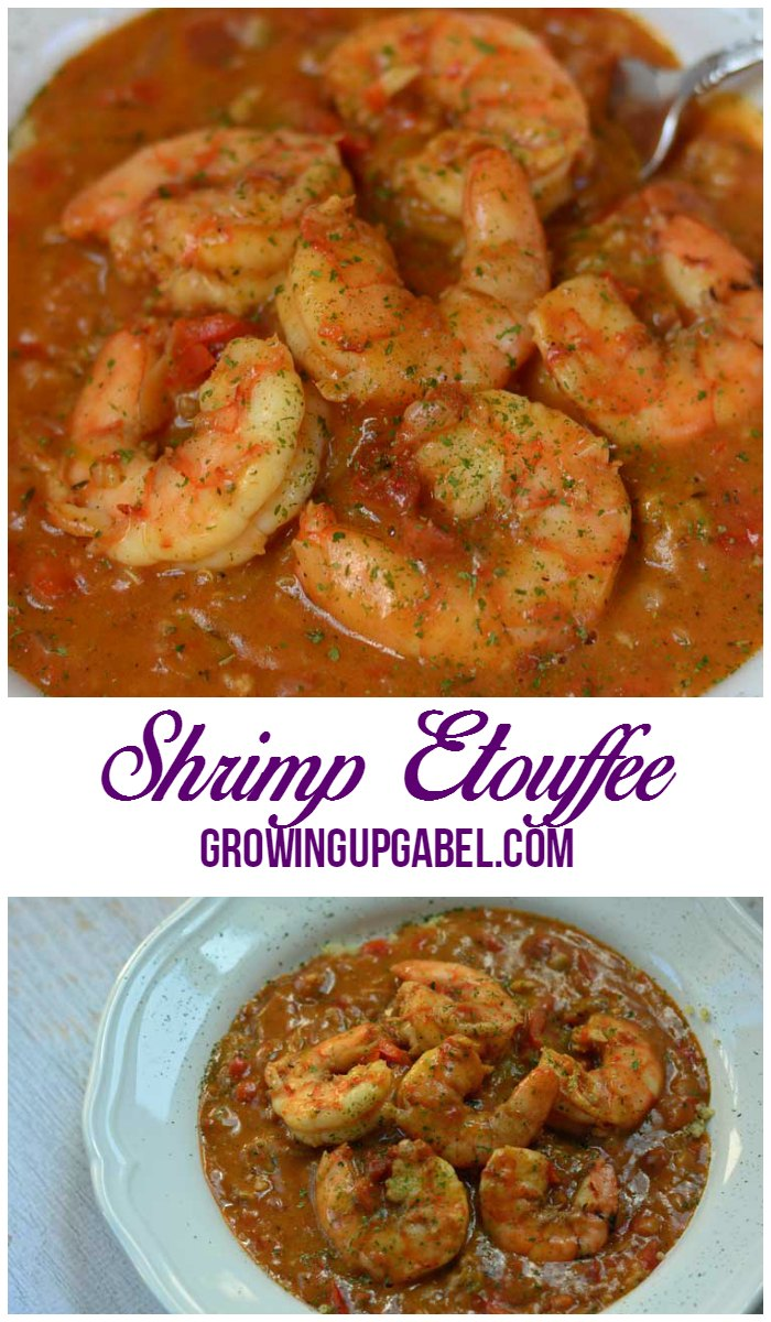 Easy Shrimp Etouffee Recipe from GrowingUpGabel.com