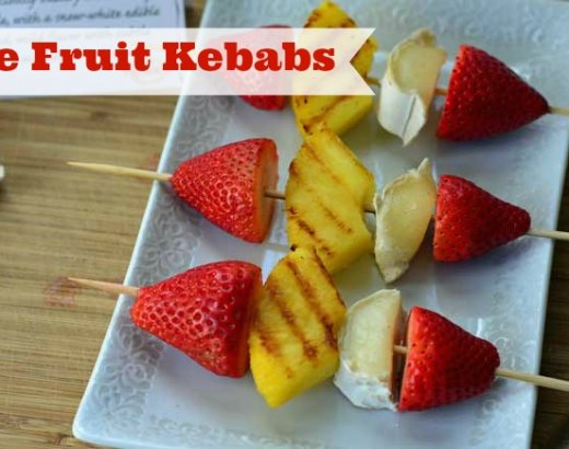 Brie Fruit Skewers