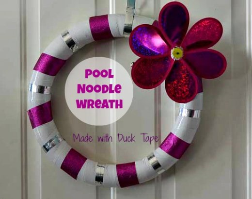 Duck Tape Pool Noodle Spring Wreath