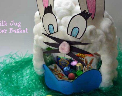 Milk Carton Bunny Easter Basket