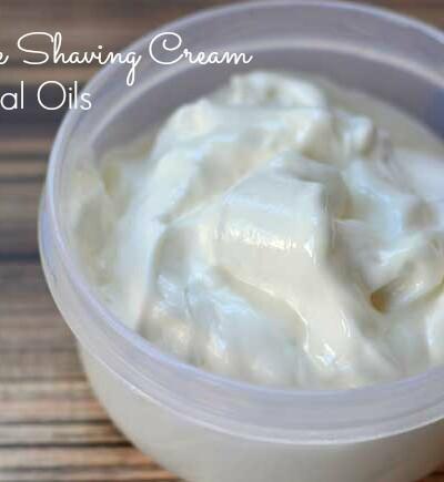 Tired of buying expensive shaving cream? Make your own with just 3 ingredients and essential oils!