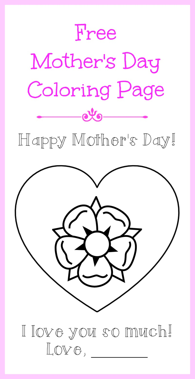 free mother u0027s day coloring page