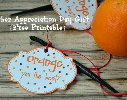 Teacher Appreciation Day Gift {Free Printable!}