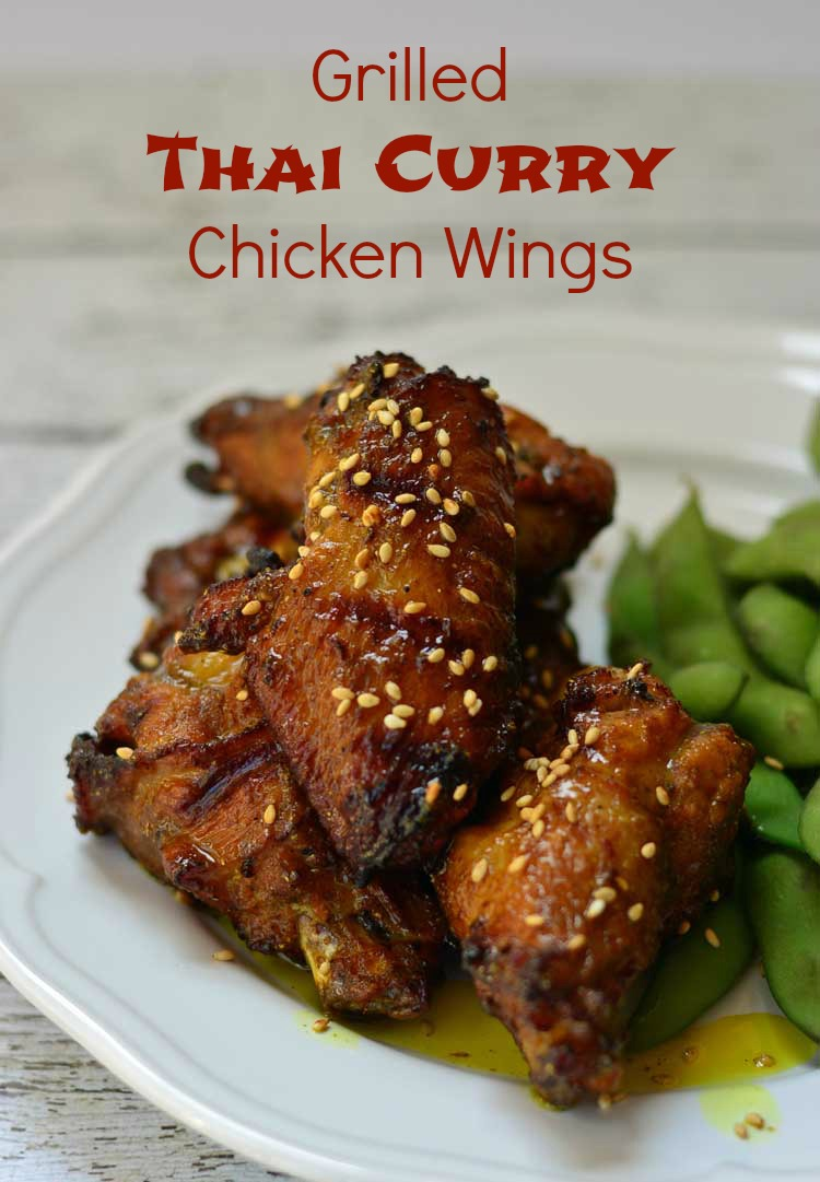 grilled thai curry chicken wings recipe. Black Bedroom Furniture Sets. Home Design Ideas
