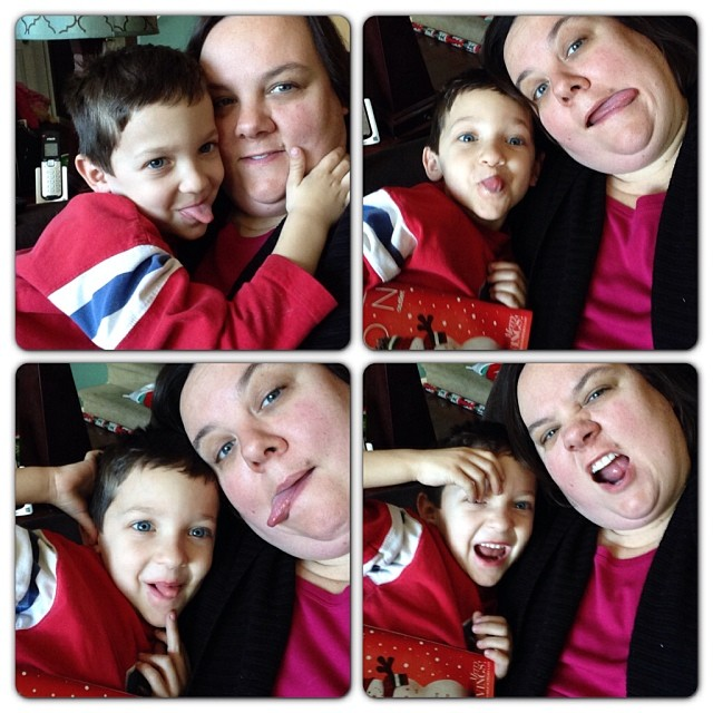 Silly faces with Miles