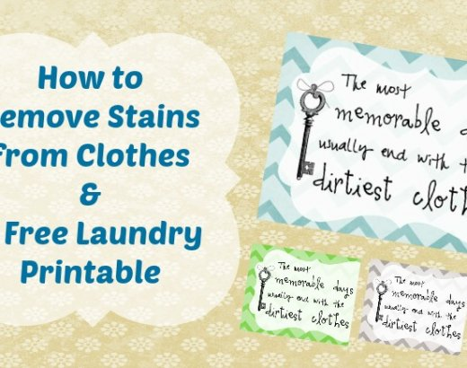 How To Remove Stains on Clothes and A Free Laundry Printable