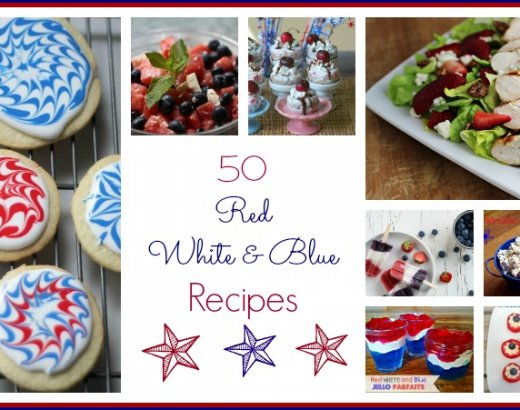 50 Red, White, and Blue Fourth of July Recipes