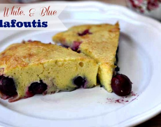 Red, White, and Blue Clafoutis with Nestle Coffeemate
