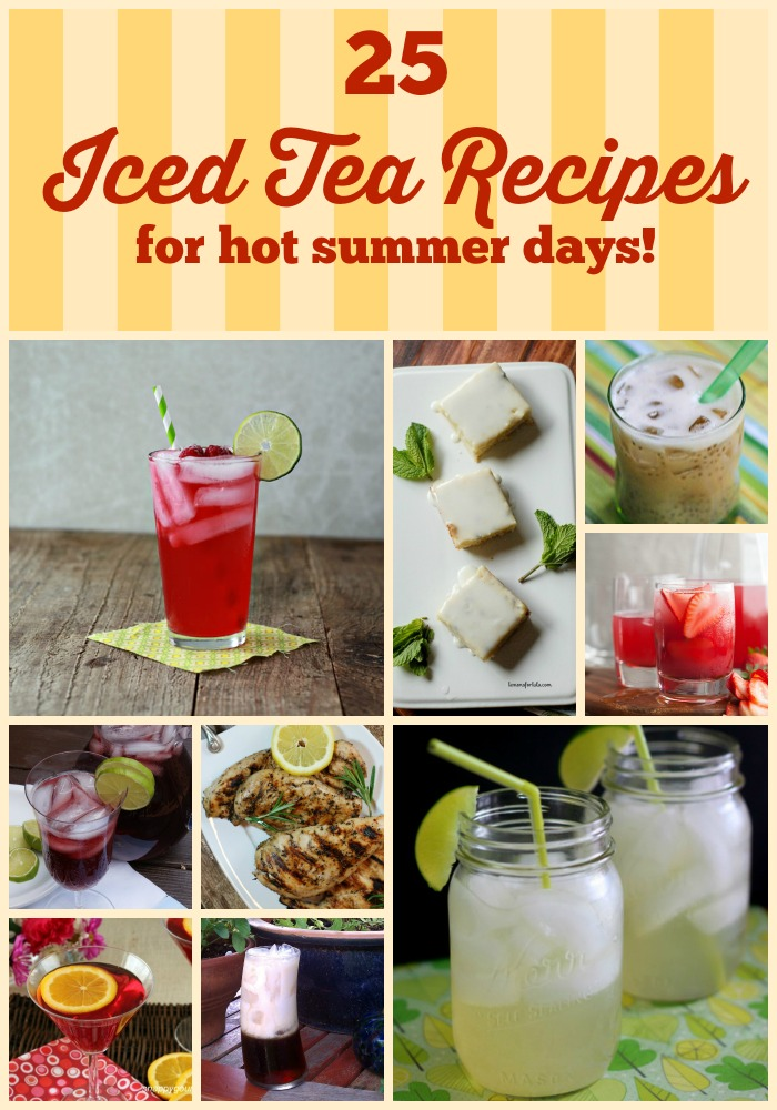 Homemade iced tea is the perfect summer drink recipe. Check out these 25 delicious recipes including recipes for southern, peach, green, flavored and unsweetened iced tea recipes.