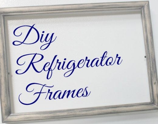 Show off School Work with DIY Refrigerator Frames