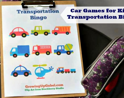 Car Games for Kids: Transportation Bingo