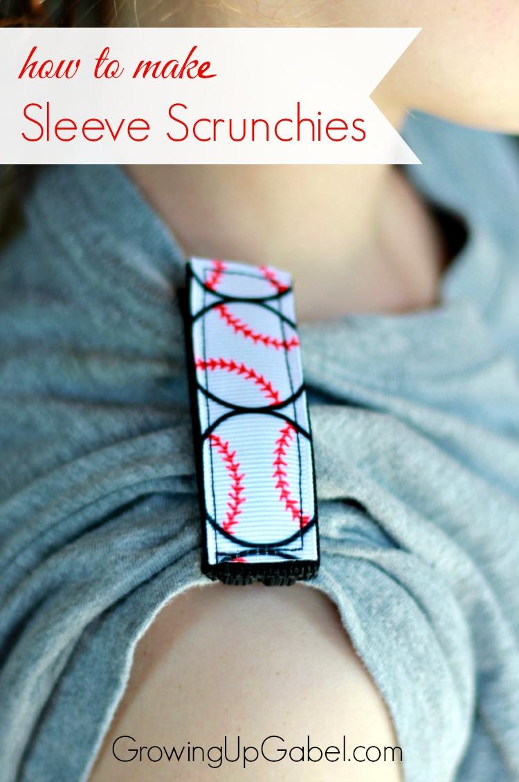 how to make sleeve scrunchies